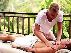 Russian twinks footjob and massage