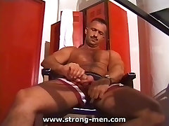 Sexy Hairy Muscle Stud