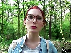 German Scout - College amber and phoebe lesbian fun Teen Lia in Public Casting