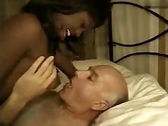 Ebony Hooker fucks old man Dave Cummings