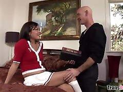 Ladyboy cheerleader Carmen Moore