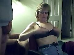 Mature takes cumshot on cam show.