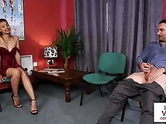 CFNM lesbian angels 4 instructs jerkoff at doc office