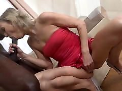 Mature fucked hard by black man cums in her mouth and facial