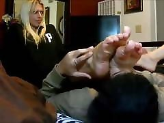 Threesome foot fetish party foot worship&footjob