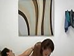 Beautiful asian masseuse sucks and fucks a chap with monster cock