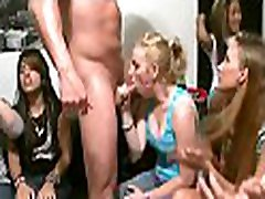 Raunchy pecker sucking experience with hot chicks