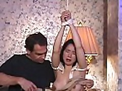 Cleanly shaved cum-hole gets a complete three sum girl treatment