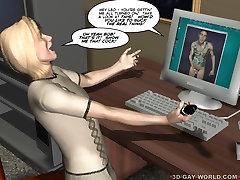 GAY BDSM NIGHTMARE! 3D Gay Cartoons Anime Comics Bondage