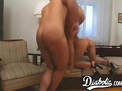 Mature skank DP rammed in hardcore threesome