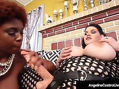 Hot bangbros blacked beeg BBW Angelina Castro StrapOn Fucks Ebony Maserati!