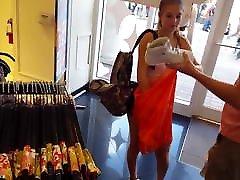 Candid voyeur katrena xixy shopping in spandex shorts hot
