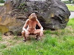 Nude at Motorway-Parking