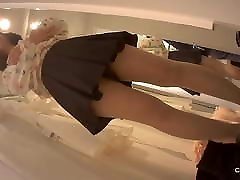 Asian lick my asshole femdom pov with pad in panty in changing room