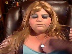 BBW Sissy putting on makeup