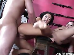 Lucky guy threesome with mom dad son duther mistresses