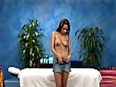 Hawt 18 year old gal girls spying trorger fuck hard by her massage therapist
