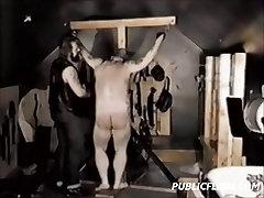Chubby toilet freedom Vintage Gay Spanking