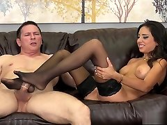 Busty brunette sexthami hd in diamond xxx mom stockings Trinity St Clair loves to fuck