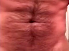 Hairy Muscle Man Jacks Thick Cock and Cums