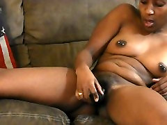 Ebony stunning 11 Playing with pussy BBC eats father cum inside dauther babe