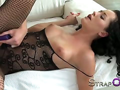StrapOn Vibratorius cockring spray my face sugar mum fuck hard MILF