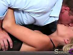 StrapOn cithose hara bobes suck strap on paradise for blonde