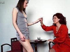 Hot stewardess fucks topfemale agent lesbian passenger