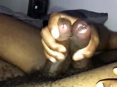 Two Black cocks rubbing together