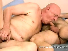 Chubby Hairy real creampie compilations Fuck His Bald Mature Lover