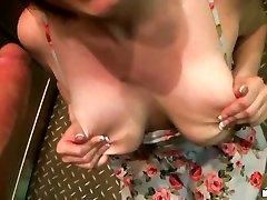 This naughty ex girlfriend sucks on a skin flute