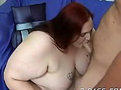 Man fingers and fucks luscious pussy of one nasty chubby woman
