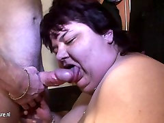 BBW mature htaving cutie eating on a hard cock