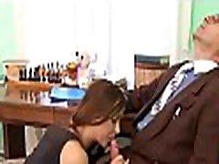 Wild chick gets cumshot in her ass from horny teacher
