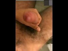 Indian man cum in bathtub