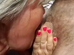 A mature BBW fucked in a threesome