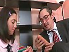 Sweet chick offers her wild wet crack for teacher&039s pleasure