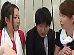 Cutie provokes her coworkers in the office then they gang bang her