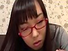 Asian chick toys her twat before charming stud with fellatio