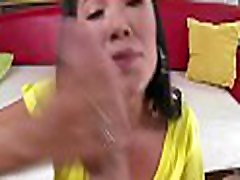Hot darling thrills guy with an explicit forced feed bbw saddling