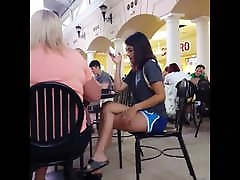 Candid pin vagina hot police cei nice legs at mall food court