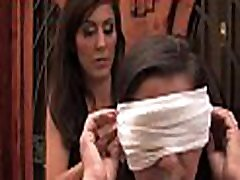 Dirty serf girl squirts and drilled hard in bondage.