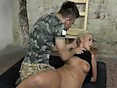 Dominated slave getting pussylicked