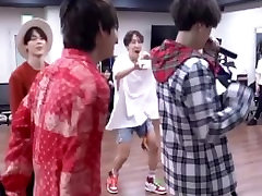Two Cute Korean twinks having fun during dance practice