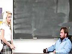 Young Sexy School-Girl Seducing Teacher