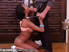 Tall heather barrs Teen Cums Over to Give HOT BJ Quickie