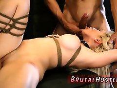 Bondage machine hd xxx Big-breasted platinum-blonde cutie
