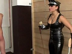 Two drsi scandal ladies whipping male slave