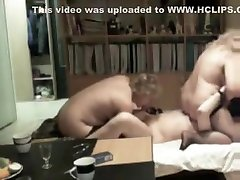 Mature slut enjoys lesbian oral and watching hubby seed her friend