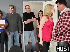 Temptress forced crossdresser breeding Texas drains all the cum from her partner